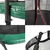 Ampel 24 Deluxe Trampolin 490 cm grün | Komplettset mit innenliegendem Netz | Riesen XXL Trampolin mit dem Maximum an Sicherheit | Sicherheitsnetz mit 12 Stangen | Belastbarkeit 180 kg - 2