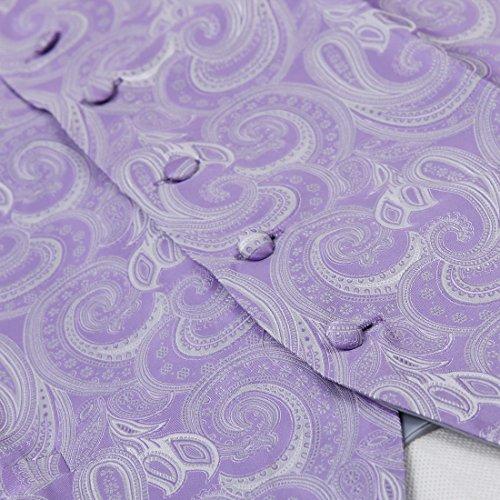 EGD1B.01 Motif microfibre Gilet cravate Set Hommes Par Epoint EGD1B01A-Medium Violet