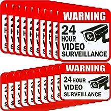 20 pegatinas de vigilancia de vídeo, 2 tamaños para el hogar o la casa,
