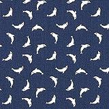 Fabulous Fabrics Cretonne Delfin – Navy — Meterware ab