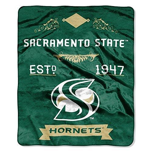 Northwest NCAA Cal State Sacramento Hornets Plüsch Raschel Überwurf grün 127x 152,4cm Überwurf Decke (Sacramento Hornets)