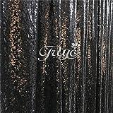 trlyc 120cm*210cm schimmernden Glanz Pailletten Stoff Fotografie Hintergrund für Hochzeit auf Verkauf Farben sind erhältlich, Sonstige, Black, 4ft*7ft sequin backdrop