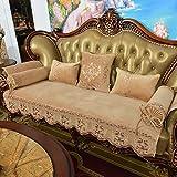TT&CC Luxus Sofa Kissen Anti-Rutsch Hochwertige Vier Jahreszeiten Universal Leder Sofa Deckel Sofa Deckel Voll Stoffbezug Couch Abdeckungen-A 80x180cm(31x71inch)