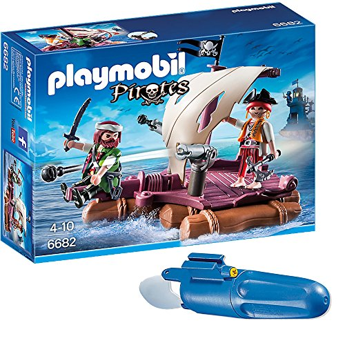 PLAYMOBIL® Piraten 2er Set 6682 7350 Piratenfloß + Unterwassermotor