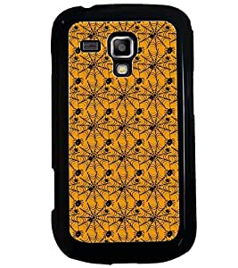 Printvisa Yellow And Black Spider Web Pattern Back Case Cover for Samsung Galaxy S Duos S7562