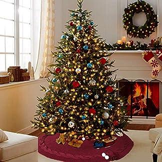 Duquanxinquan – Falda para árbol de Navidad, diseño de Papá Noel de muñeco de árbol de Navidad