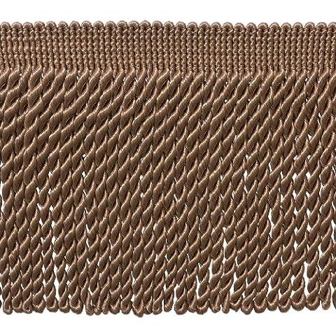 4,6m Value Pack–15,2cm de long foncé Sable Bullion Fringe Trim, Basic Trim Collection, style # Bfs6Couleur: A8(4,6m/4.5metres)