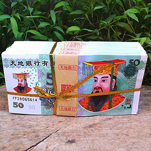 VICKY-HOHO 100 Stück chinesische Joss Papier - Ahnen Geld Himmel Banknoten für - Beerdigung Kostüm