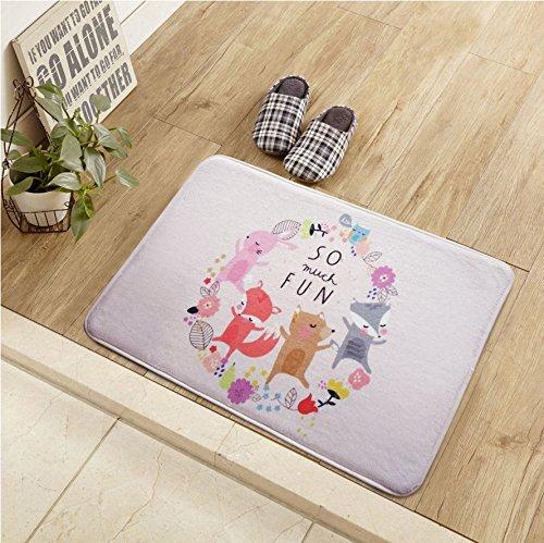 Felpudos Cómics baño almohadillas de desgaste,B,40x60cm.