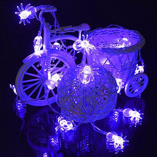 raignée Lumière Halloween Party Decration Lumières - Bleu ()