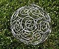 Dekokugel Gartenkugel *Blume* Kugel Metall silber - Ø12cm Spiralblume filigran