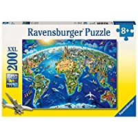 Ravensburger World Landmarks Map XXL 200pc Jigsaw Puzzle