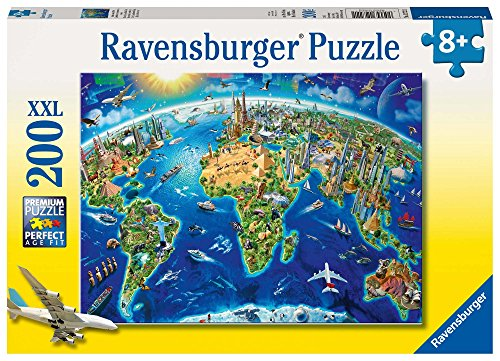 Ravensburger 12722 - Große, weite Welt - 200 Teile Puzzle (Große Puzzle-teile)