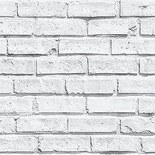 Arthouse - Papel pintado (diseño de ladrillos blancos)