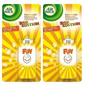 Air Wick Freshmatic Compact Pop Fun Recharge 24 ml - Lot de 2