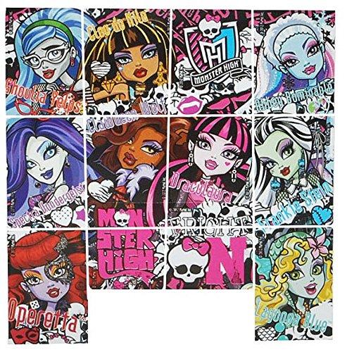 Unbekannt 12 TLG. Set Sticker / Aufkleber - Monster High - selbstklebend - für Mädchen pink Gothik Puppen Stickerset Kinder - z.B. für Stickeralbum / Draculaura Vampir (Aufkleber Monster High)