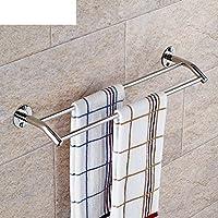 In acciaio inox barra porta salviette doppio/Bagno asciugamano Bar/ (Porta In Acciaio Inox Indietro Bar)
