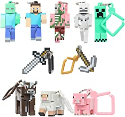 Smart Buy Minecrafts Action Figure Toys- Set of 10 pieces