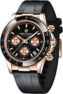 PAGANI DESIGN Orologio al quarzo da uomo movimento giapponese sportivo cronografo in acciaio inox multifunzione impermeabile orologio