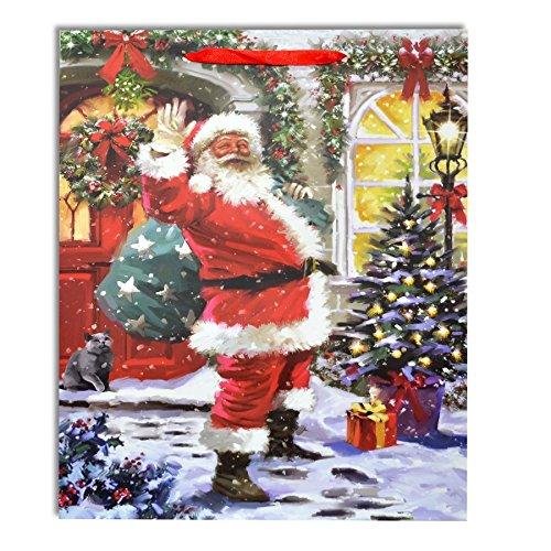 Gifts 4 All Occasions Limited SHATCHI-465 - Juego de 3 bolsas de papel (tamaño mediano), diseño navideño, multicolor