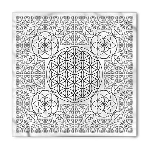 Geometry Bandana, Multiple Spirals, Unisex Head and Neck Tie,Unisex Bandana Head and Neck Tie Neckerchief Headdress Silk-Like 100% Polyester(size:M) -