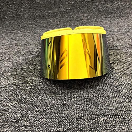 POIUIU Visier Sommer Unisex Durchsichtiger Kunststoff-Top-HutSonnenblende Maske Hut Sonnenbrille Strandkappen Uv-Schutz Gelb