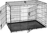 AmazonBasics Hundekäfig mit 2 Türen, Metall, zusammenklappbar, Gr. 127 cm