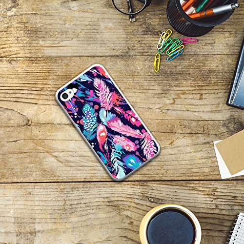 iPhone 4 iPhone 4S Hülle, WoowCase® [Hybrid] Handyhülle PC + Silikon für [ iPhone 4 iPhone 4S ] Husky-Hunde Sammlung Tier Designs Handytasche Handy Cover Case Schutzhülle - Transparent Housse Gel iPhone 4 iPhone 4S Transparent D0553