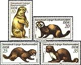 DDR 2677-2680 (complète.édition) 1982 vente aux enchères des produits de fumée (Timbres pour les collectionneurs) DŽautres mammifères...