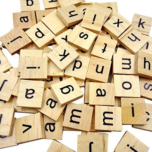 100 Scrabblefliesen Holz Buchstaben Scrapbook Handwerk Bildungs ??Quadrate