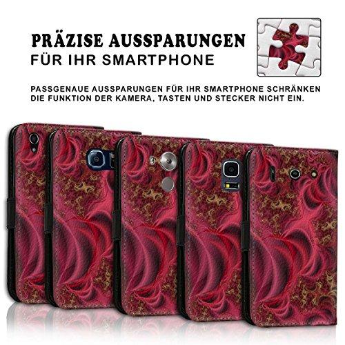 Wallet Book Style Flip Handy Tasche Case Schutz Hülle Schale Motiv Etui für Apple iPhone 6 Plus / 6S Plus - Variante UMV20 Design12 Design 4