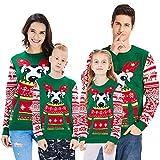 Loveternal Perro Jerseys Navideño Mujer Hombre Familia Christmas Sweater Novedad Feo Disfraz Ugly Xmas Jumper XXL