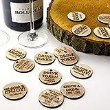 Rustikales Holz personalisierbar Drink Token oder Gutscheine, Kreis oder Disc Hochzeitsandenken, Vintage Einladungen. natürliches holz