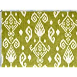 Tela de tapicería, tela de tapicería, tela de tapicería, tela, tela de la cortina, tela - Ramin, verde - noble bicolor mezcla Oriental
