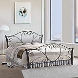 Metallika Atlanta Queen Size Metal Bed  Glossy Finish, Black  By FurnitureKraft