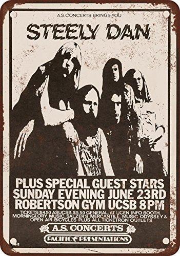 1974-steely-dan-in-santa-barbara-look-vintage-riproduzione-in-metallo-tin-sign-203-x-305-cm