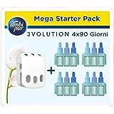 Ambi Pur, Deodoranti per Ambienti, Elimina Odori, 3Volution Nuvole di Cotone Mega Starter Pack con Diffusore Elettrico 21 ml,