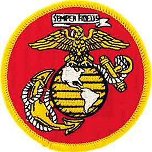 EagleEmblems Patch-USMC Logo, Globus und Anker (7,6cm)
