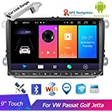 9 Inch Car Radio Multimedia Player Audio Stereo Android GPS Navigation WIFI Mirror Link FM Touch Screen Autoradio for V/W Passat Golf MK5 MK6 Jetta T5 EOS POLO Touran Seat with USB Dongle