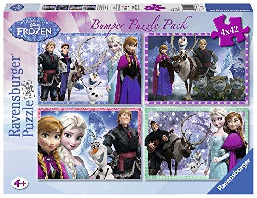 Ravensburger Frozen?Bumper Pack, vier Puzzle von 42Teile, 36x 26cm 70251 Preisvergleich