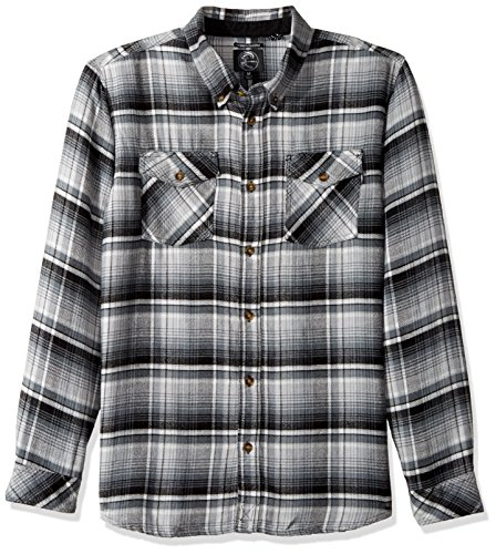 Button-up-shirt (O'Neill Herren Hemd Butler Flanell Button Up Shirt - Schwarz - Klein)