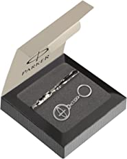 Parker Vector Camouflage Gift Set - Roller Ball Pen & Parker Keychain (Black Body, Blue Ink)