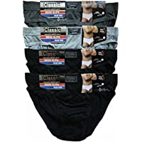 NEW MENS TEENS CLASSIC 6/12 PAIR MULTIPACK MIXED EVERYDAY 100% COTTON BRIEFS