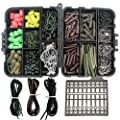 Assorted Carp Fishing Tackle Box with Quick Change Swivels/Jig Hooks/Tail Rubbers/Tubes/Soft Fishing Beads/Hook Sleeves/Bait Stoppers/Silicone Rig Tubes Combo Carp Fishing Tackle Set by Shaddock Fishing