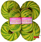 #8: Vardhman Acrylic Knitting Wool, Pack of 6 (Multi Green) (Pack of 6)