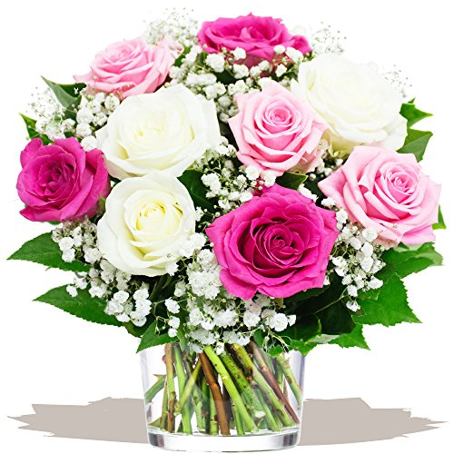 eden4flowers-mdy-ppmdr-pretty-mothers-day-rose-bouquet-pink-white
