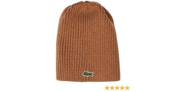 c51056d0c5571c Lacoste Men's Rb3504 Beanie, Beige (Dark Kraft F4z), One Size (Manufacturer  Size: TU): Amazon.co.uk: Clothing