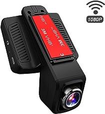 "TOGUARD Auto Kamera,Dash Cam,2.45"" LCD, Wifi WLAN, Unauff?Llige Dash Cam, FullHD 1080p Fahrzeug Auto Kamera, DVR Rekorder, Bewegliches Objektiv, G-Sensor, Loop Aufnahme, Parkmonitor"