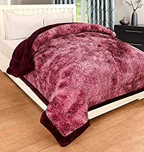 selective Soft Microfibre Winter Heavy Quilt, Double Size, Metallic Brown