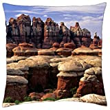 "mushroom rocks in canyonlands np utah - Throw Pillow Cover Case (18"" x 18"")"